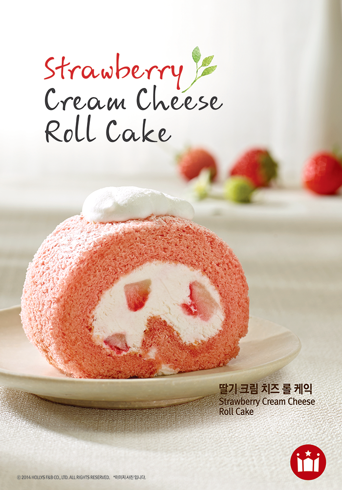 Strawberry Cream Cheese Roll Cake
